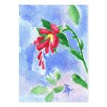 Aceo rojo de la flor del amor tarjetas de visita grandes