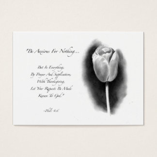 ACEO SIZE: TULIP: BIBLE VERSE: PENCIL ART BUSINESS CARD