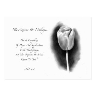 ACEO SIZE: TULIP: BIBLE VERSE: PENCIL ART LARGE BUSINESS CARDS (Pack OF 100)