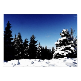 ACEO Vivid Blue Sky on Wintery Day Landscape Large Business Cards (Pack Of 100)