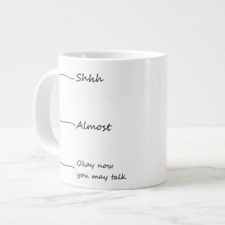 """""""Aceptable ahora usted puede hablar"""" la taza de ca Taza Grande"""