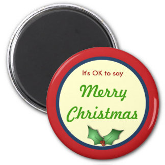 ACEPTABLE decir el imán de las Felices Navidad