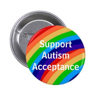 Aceptación del autismo de la ayuda pin redondo de 2 pulgadas