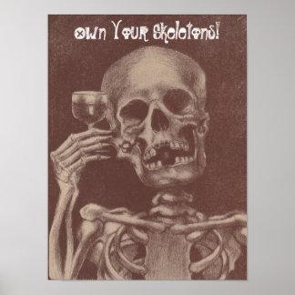 """¡Aceptación que tuesta el esqueleto """"para poseer Póster"""