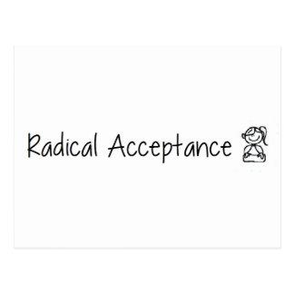 Aceptación radical linda tarjetas postales
