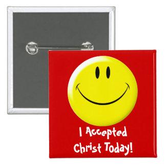 ¡Acepté a Cristo hoy! Pin Cuadrado