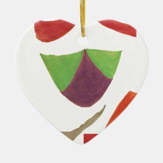 acepte adorno de cerámica en forma de corazón