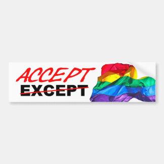 Acepte la homosexualidad pegatina para auto