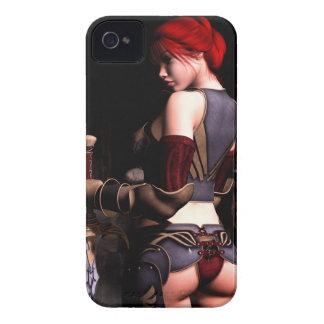 Acepte su caja intrépida de Blackberry del sino iPhone 4 Protector