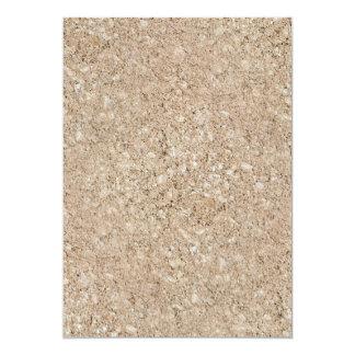 """Acera beige amelocotonada pálida del cemento invitación 5"""" x 7"""""""