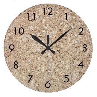 Acera beige amelocotonada pálida del cemento reloj redondo grande