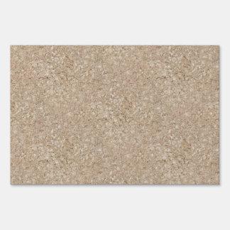 Acera beige amelocotonada pálida del cemento señal