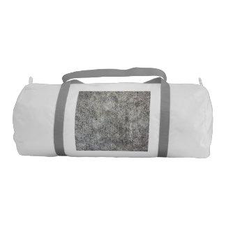 Acera gris resistida del cemento bolsa de deporte