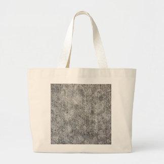Acera gris resistida del cemento bolsa tela grande