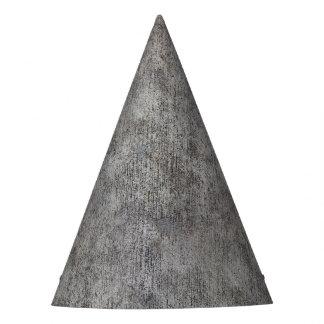Acera gris resistida del cemento gorro de fiesta