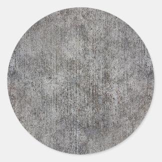 Acera gris resistida del cemento pegatina redonda