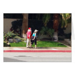¿Acera Santa del Palm Springs, y señora Claus? Tarjeta De Felicitación