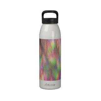 Acera teñido anudada botella de agua reutilizable