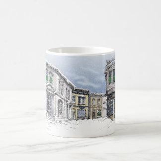 Aceras de la ciudad taza de café