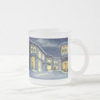 Aceras de la ciudad tazas de café