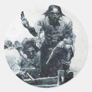 Acercamiento de Blackbeard Pegatina Redonda