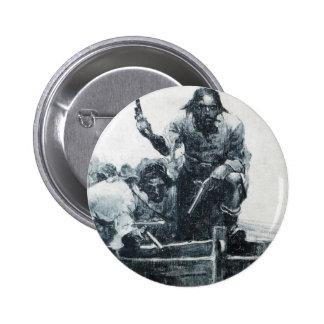 Acercamiento de Blackbeard Pin Redondo De 2 Pulgadas