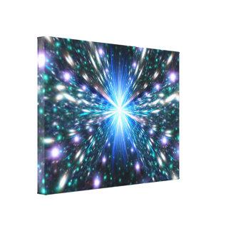 Acercamiento de la velocidad de la luz impresiones en lienzo estiradas