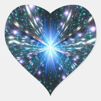Acercamiento de la velocidad de la luz pegatinas corazon