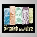 Acercamiento de las culturas. póster