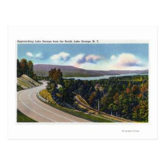 Acercamiento meridional al lago de la carretera tarjetas postales