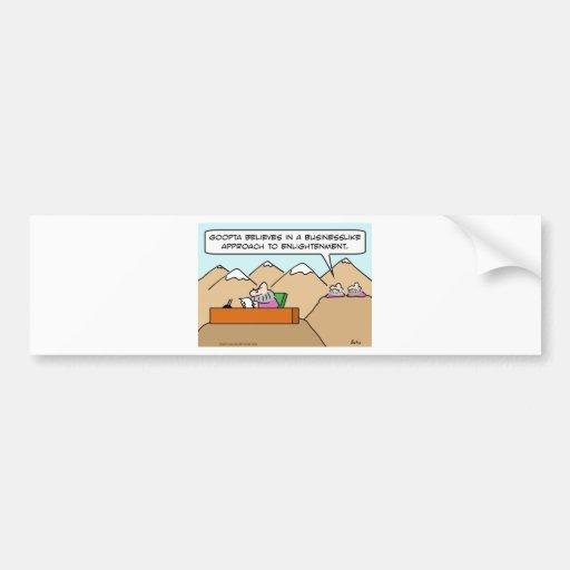 acercamiento serio al gurú de la aclaración pegatina de parachoque