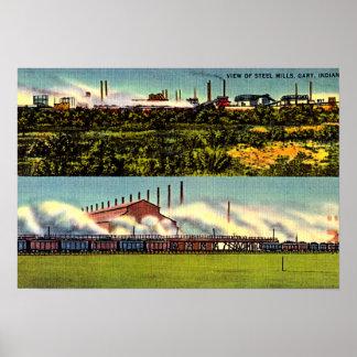 Acerías 1930 de Gary, Indiana Poster