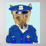 Acerino del oficial de policía posters