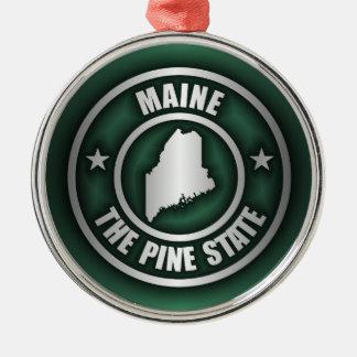 """Acero 2"" de Maine ornamentos Adorno Navideño Redondo De Metal"