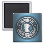 """Acero 2"" de Minnesota imanes Imán Cuadrado"