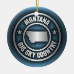 """""""Acero 2"""" de Montana ornamentos Adorno Navideño Redondo De Cerámica"""