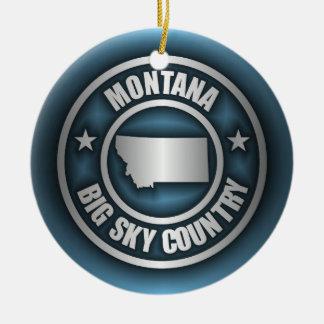 """""""Acero 2"""" de Montana ornamentos Adorno Redondo De Cerámica"""