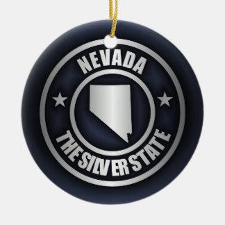 """""""Acero 2"""" de Nevada ornamentos Adorno Navideño Redondo De Cerámica"""