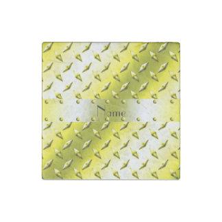 Acero amarillo conocido personalizado de la placa imán de piedra