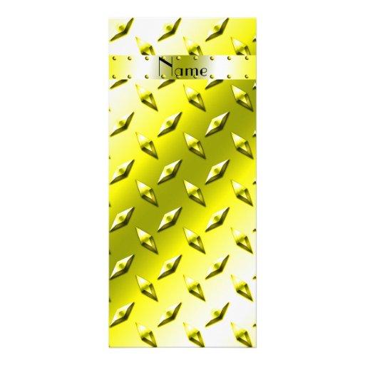 Acero amarillo conocido personalizado de la placa  plantillas de lonas