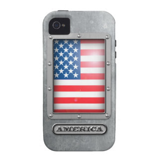 Acero americano Case-Mate iPhone 4 carcasa