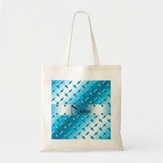 Acero azul conocido personalizado de la placa del bolsa tela barata