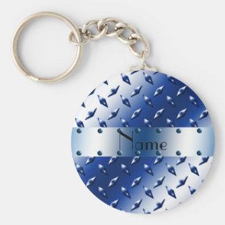 Acero azul conocido personalizado de la placa del  llavero