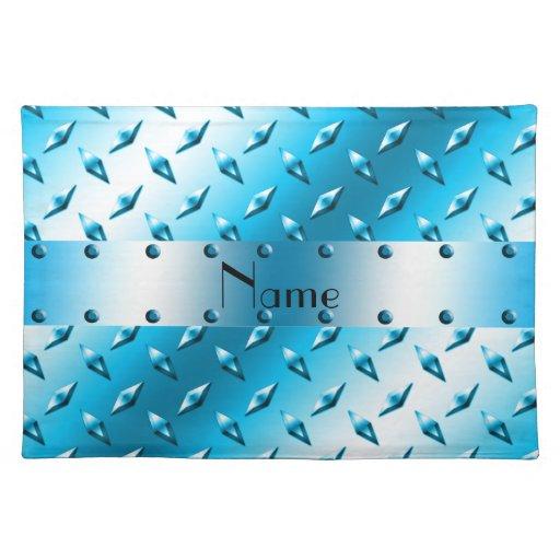 Acero azul conocido personalizado de la placa del mantel