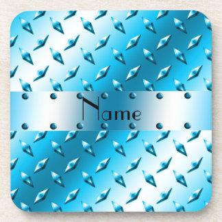 Acero azul conocido personalizado de la placa del posavasos de bebidas