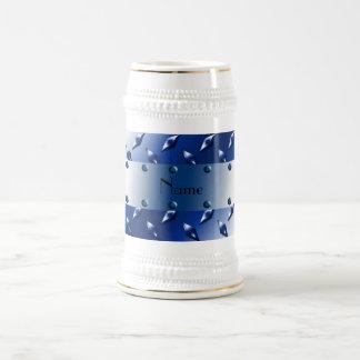 Acero azul conocido personalizado de la placa del jarra de cerveza
