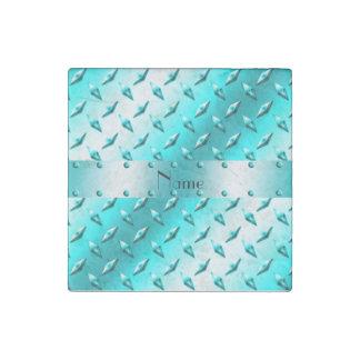 Acero azul de neón conocido de encargo de la placa imán de piedra