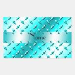 Acero azul de neón conocido personalizado de la pl pegatina