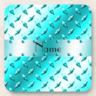 Acero azul de neón conocido personalizado de la posavasos