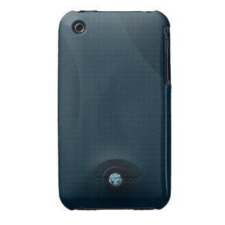 Acero azul iPhone 3 carcasas